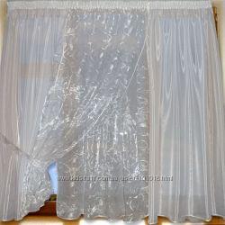 Белоснежная и нарядная шторка для Вашей кухни