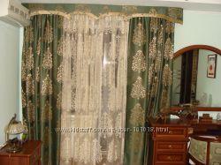 Красивые комплекты-компаньены  шторы и тюль Новые модели