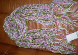 Красивый шарф крупной вязки