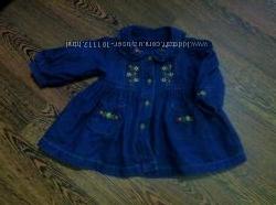M&S 0 - 3 мес платье джинсовое с вышивкой. Киев, перешлю