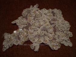 Аппликации на свадебное платье