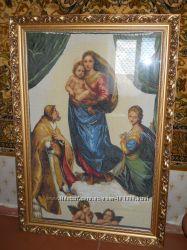 Картина крестиком Сикстинская Мадонна