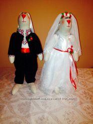 Свадебные зайцы в национальном стиле