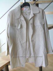 двойка из льна блузка без рукавов и пиджак размер M