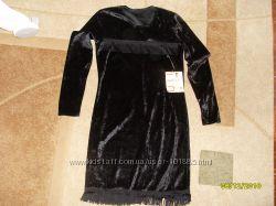 Платье  велюровое р 46