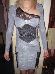 Платье с накидкой новое размер S, XS возможен обмен
