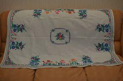 Скатерть ручная работа вышивка крестом  160110см