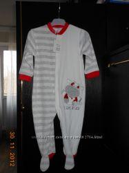 Пижамка - человечек - слип тепленькая C&A р. 86 НОВАЯ