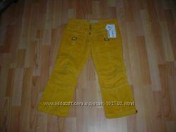 Новые вельветовые джинсы-капри