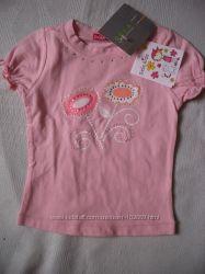 футболка розовая, новая, на 2 года рост 92 см
