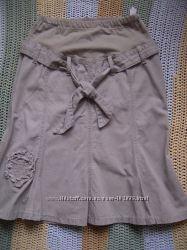 продам джинсовую юбку для беременных размер S-M, бу