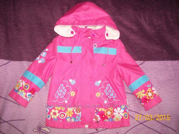 Красивая курточка на флисе р. 92