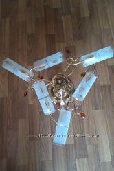 люстра 11165  на 6  лампочек, трубочки