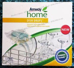 AMWAY Dish Drops порошок и таблетки для посудомоечных машин