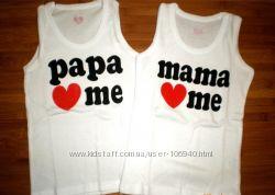 Майки, футболки  папа - мама 35грн.