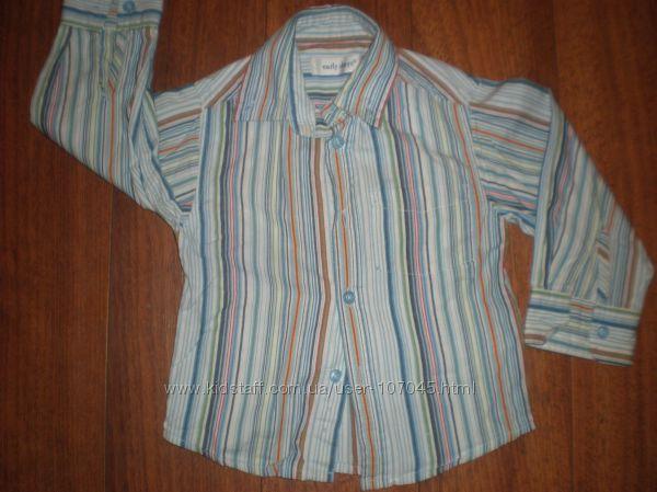 Рубашки для деток 2-5 лет с длинным рукавом на любой вкус