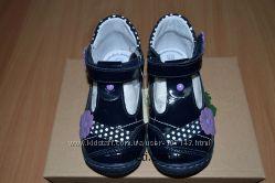 Кожанные Туфли для девочки RenBut р-р 20-25