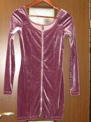 HM велюровое платье