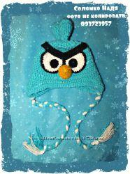 Angry Birds шапочки ручной работы
