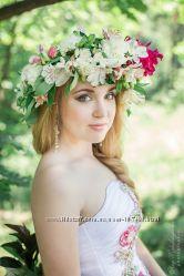 Венок на голову из цветов под заказ в Киеве