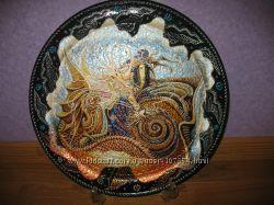 Распродажа тарелки точечная роспись