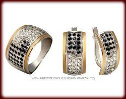 Украшения из серебра 925 с золотом. Пр-во Украина, ЮЗ Бигсан. Оптовые цены