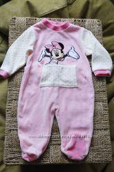 Человечек Disney Мышка Mini с хвостиком для малышки 6-9 мес