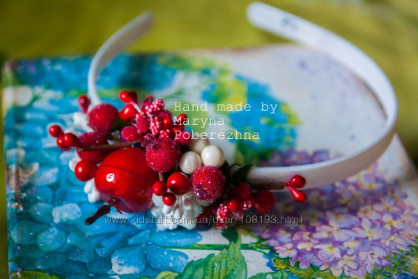 Ободки с цветами и ягодами