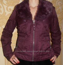 Продам стильную утепленную куртку красивого фиолетового цвета