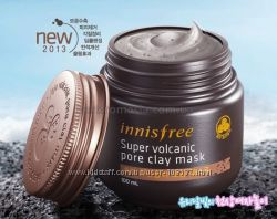 Маска с вулканическим пеплом -новая серия Innisfree Volcanic Pore Clay Masк