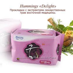 Натуральные, лечебные гигиенические прокладки из Кореи Hummings Delight