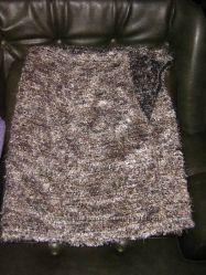 Пушистый костюм травка - кофточка и юбка. Доставка бесплатно.