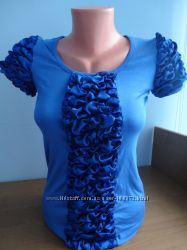 новая синяя футболка С-ка