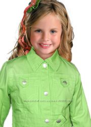 Плащ осенний  для маленькой модницы, салатового цвета р104-110