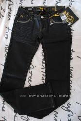YELL Италия новые джинсы черные с пропиткой и в стразах р. 27S