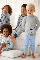 Комплекты 3 пижамы некст мальчику и девочке