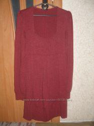 Нарядное платье для пузиков р-р 42-44 Цвет бордо