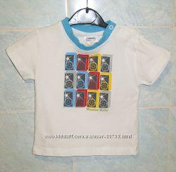 Фирменные футболочки на модного малыша 3-6-9мес