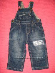 Джинсы на бретельках, джинсовый полукомбенозон от ТМ MotherCare.