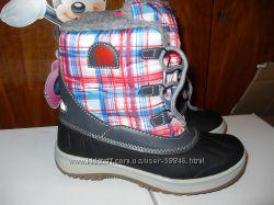 теплые , стильные , модные зимние сноубутсы, ботинки для девочек
