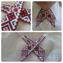 Женский галстук бабочка ручной работы