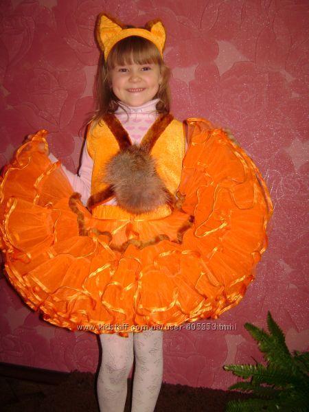 Карнавальный костюм лисички прокат