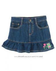 Комплект джинсовая юбка и реглан Gymboree, р. 5