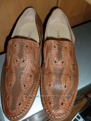 Мужские кожаные летние туфли 42 размер