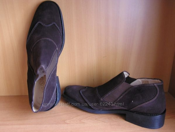 Замшевые ботинки, внутри кожа  43, 45