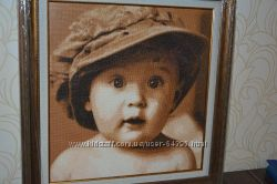 Вышитый портрет мальчика-красавчика