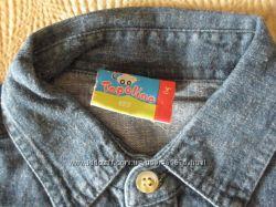 Рубашки джинсовые Тополино -распродажа