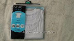 Набор белых футболок GEORGE