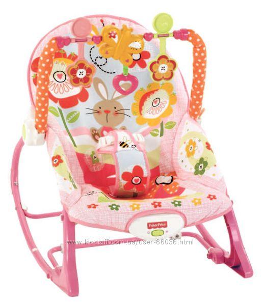 Портативное кресло-качалка Цветущий Сад от 0 до 18кг Fisher Price