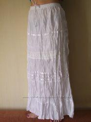 Хит лета-  100 натуральная хлопковая макси- юбка